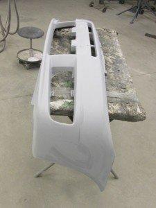 Kunststof bumper gerepareerd